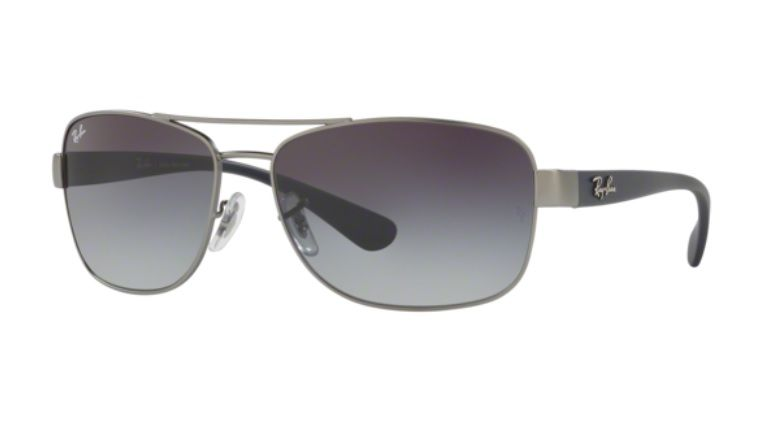 OCULOS SOL RAY BAN RB3518L 029 8G 63MM GRAFITE LENTE CINZA DEGRADÊ ... 76043927c5