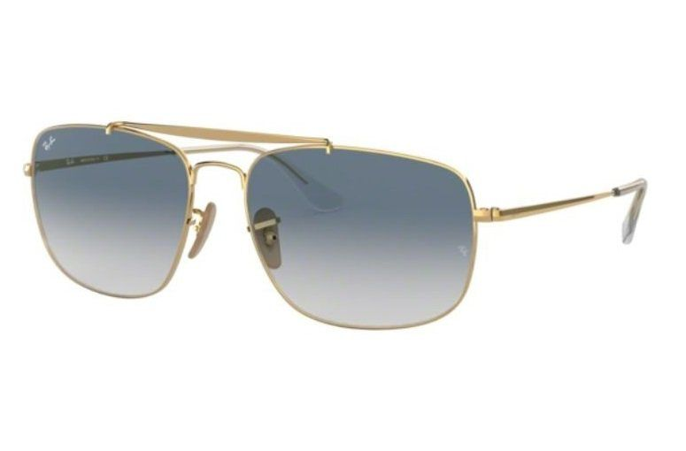 af42f5c532512 OCULOS SOL RAY BAN THE COLONEL RB3560 001 3F 61MM DOURADO LENTE AZUL DEGRADÊ