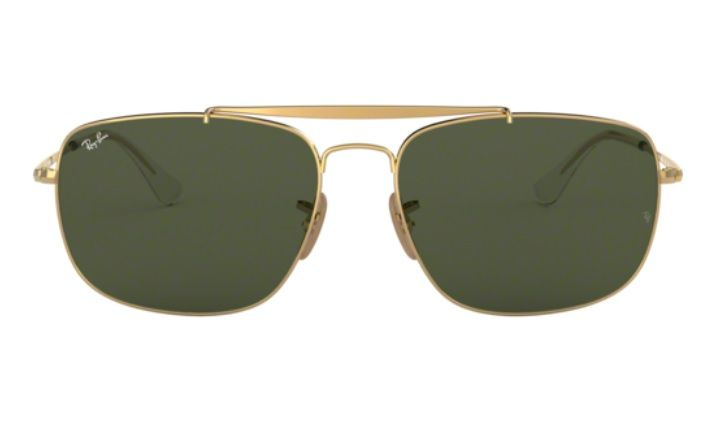 2deb55e9b6193 ... OCULOS SOL RAY BAN THE COLONEL RB3560 001 61MM DOURADO LENTE VERDE G15  ...