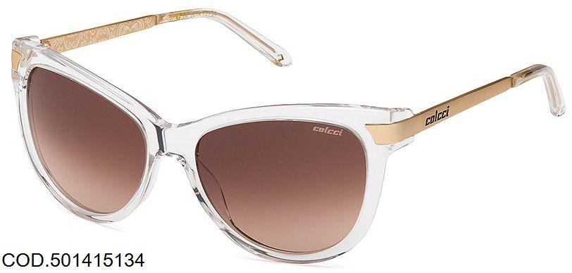 Oculos Solar Colcci 5014 Cod. 501415134 Transparente Dourado