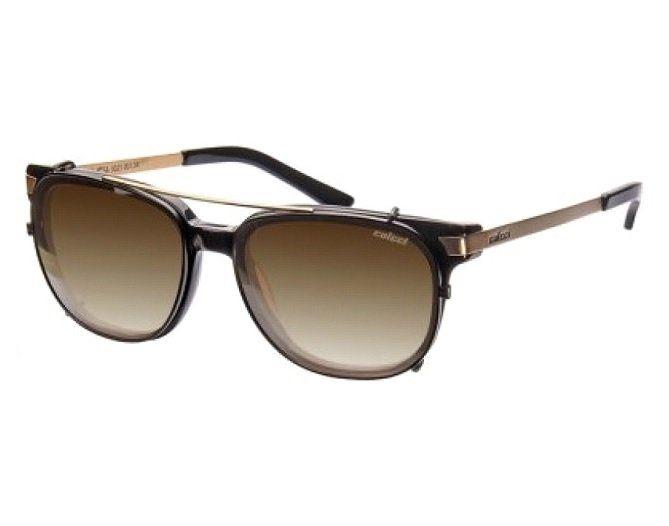 Oculos Solar Colcci 5021 Clip-on Para Grau Cod. 502100134 Preto Lente Marrom Degradê