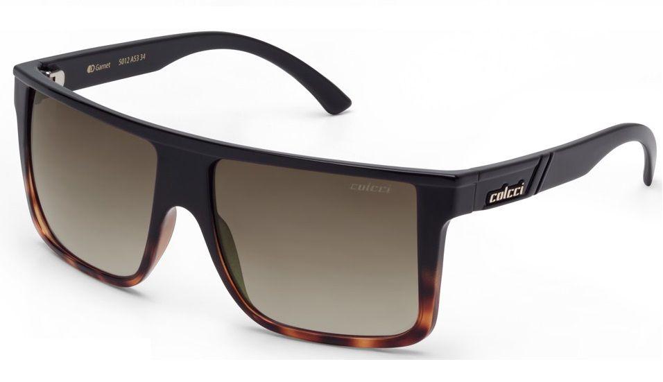 Oculos Solar Colcci Garnet 5012a5334 Preto Lente Marrom Degradê