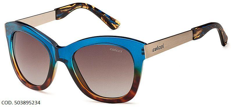 Oculos Solar Colcci Jolie Cod. 503895234 Azul Marrom