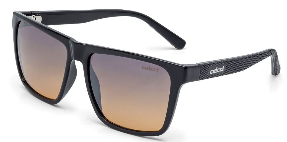 Oculos Solar Colcci Paul C0062A0221 - Preto - Lente Azul/Laranja Degradê