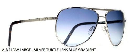 Oculos Solar Evoke Airflow Large Silver Turtle Blue Gradient