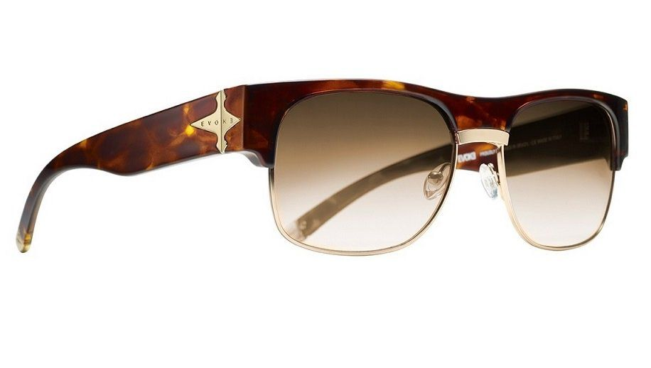 Oculos Solar Evoke Capo 2 Turtle Gold Brown Gradient
