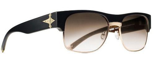 Oculos Solar Evoke Capo 2 WD02 Black Wood Gold Brown Gradient