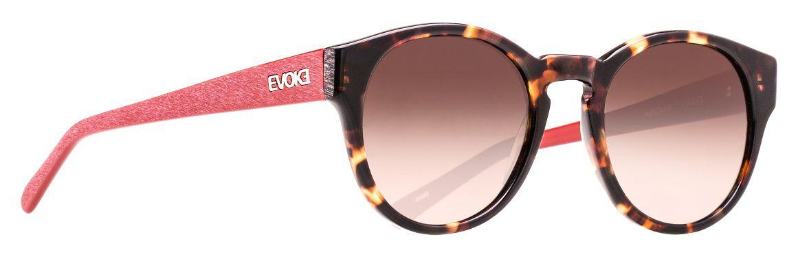 Oculos Solar Evoke EVK16 Turtle Temple Red Sanded Brown Gradient
