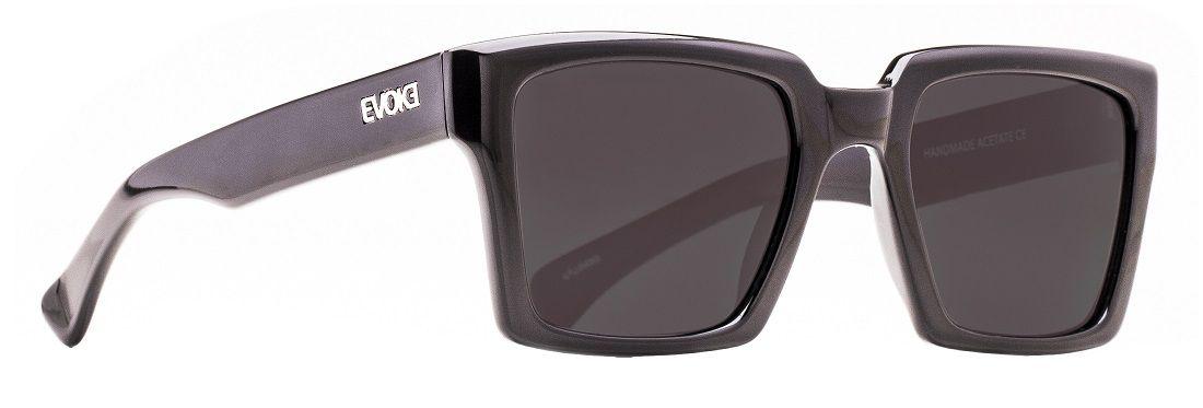 Oculos Solar Evoke EVK21 Black Shine Silver Gray Total