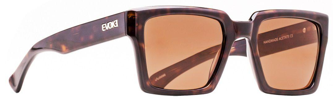 Oculos Solar Evoke EVK21 Dark Turtle Gold Brown Total