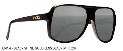 Oculos Solar Evoke Evk 4 Black Shine - Garantia - Original