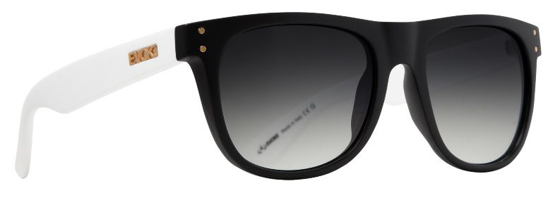 Oculos Sol Evoke On The Rocks A10 PRETO BRANCO LENTE CINZA DEGRADÊ