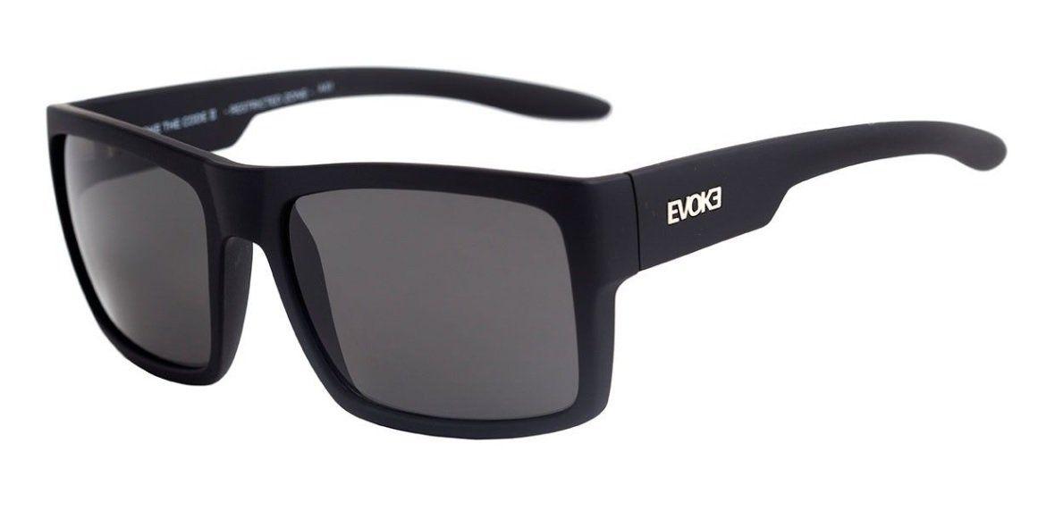Oculos Solar Evoke The Code 2 A01 Black Matte Gray Total