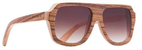 Oculos Solar Evoke Wood 1 Zebra Wood Brown Gradient
