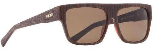 Oculos Solar Evoke Zegon Big Wood Sanded Brown Total