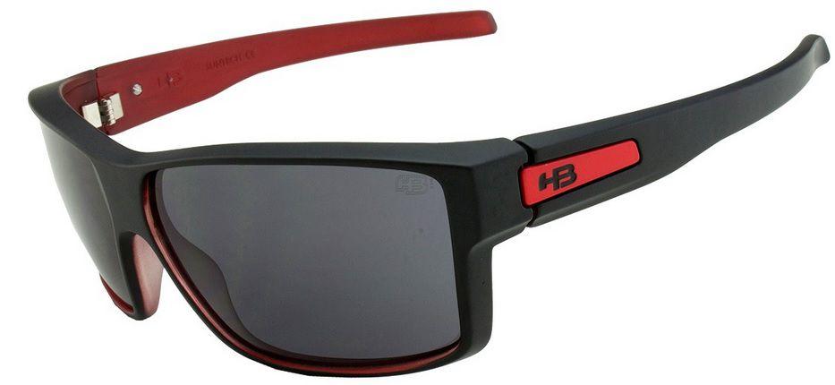 OCULOS SOL HB BIG VERT MATTE BLACK ON RED GRAY 10100550255001