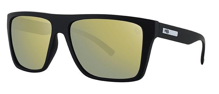 OCULOS SOLAR HB FLOYD MATTE BLACK GOLD CHROME 9011700189