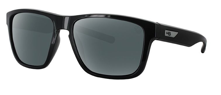 OCULOS SOLAR HB H BOMB GLOSS BLACK GRAY POLARIZED 9011200225