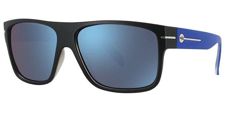 OCULOS SOLAR HB WOULD BLACK MATTE BLUE BLUE CHROME 9010457787