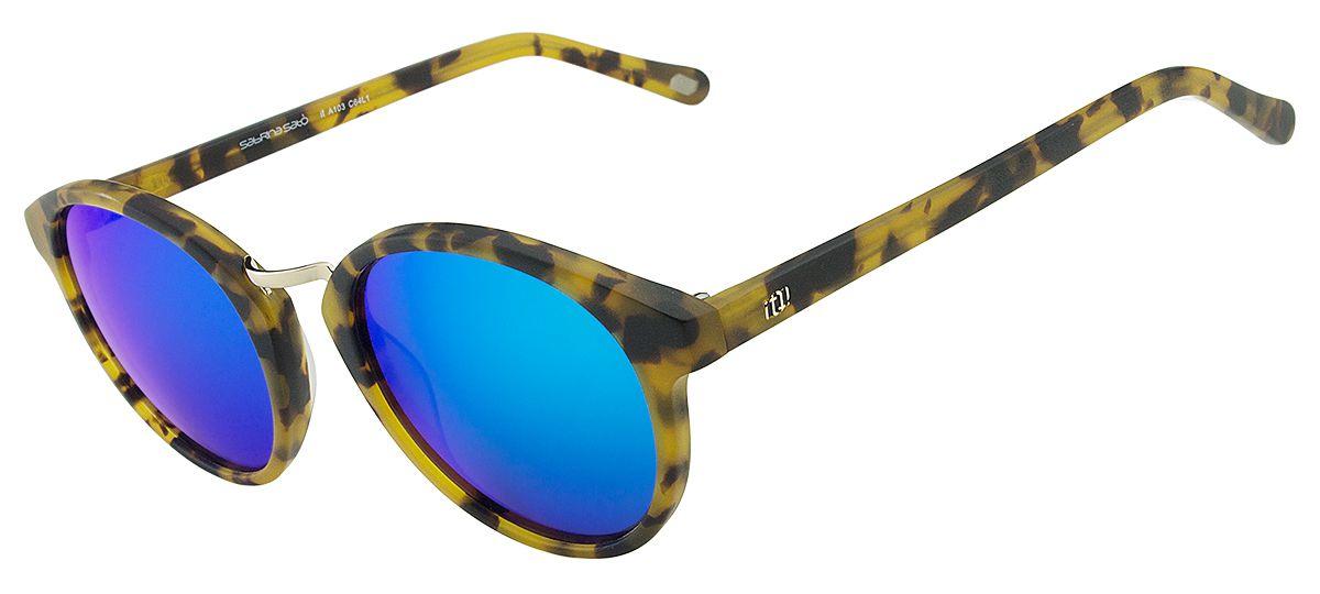 Oculos Solar It Sabrina Sato Soleil A103 C67L4 Tartaruga Azul