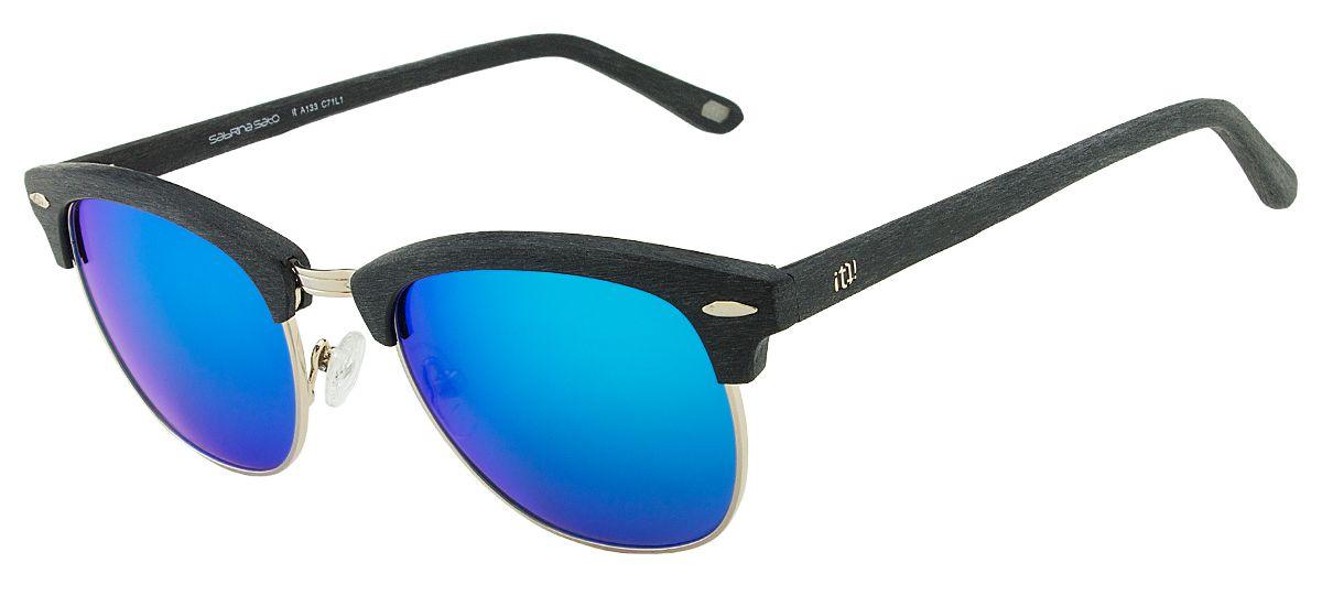 Oculos Solar It Sabrina Sato Julie A133 C71L1 Preto Fosco Azul