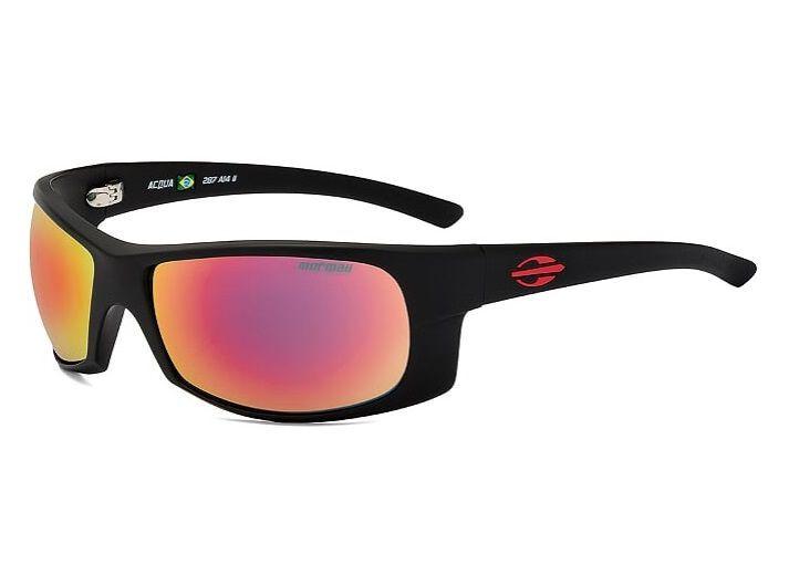 Oculos Solar Mormaii Acqua Cod. 287A1411 Preto Fosco/Vermelho