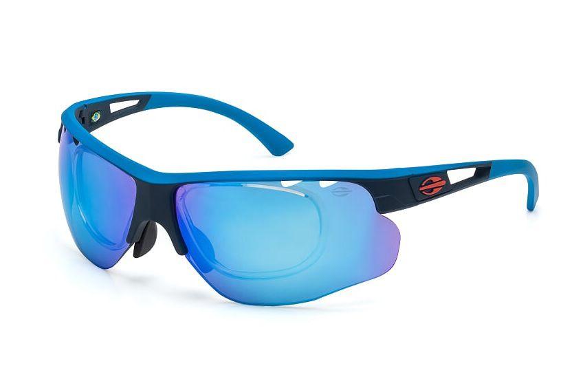 Óculos Solar Mormaii Eagle Com Clip On m0047k4512 Azul e Preto Lente Espelhada Azul
