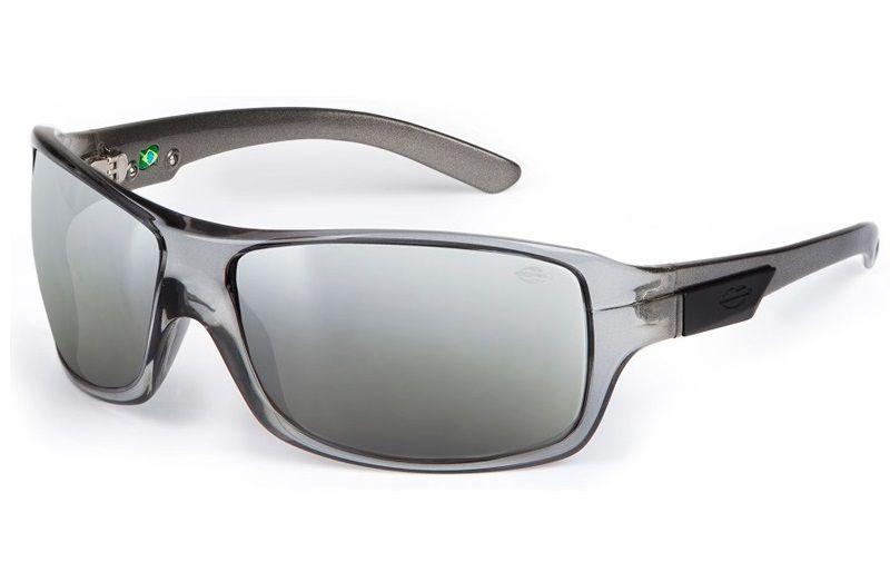 Oculos Solar Mormaii Galapagos 15477609 Fume Lente Cinza Flash Prata