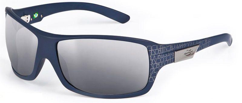 Oculos Sol Mormaii Galapagos 15477509 Azul Fosco Lente Cinza Flash Prata