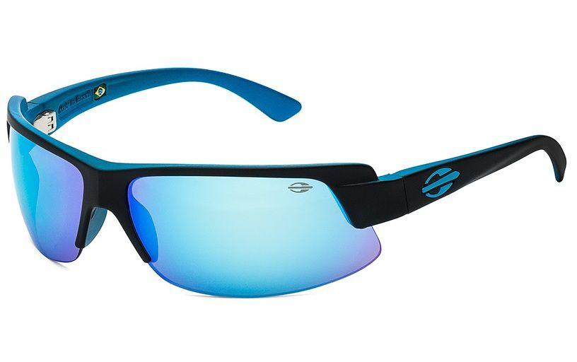 Óculos Solar Mormaii Gamboa Air 3 44103312 Preto Fosco Lente Azul Espelhado