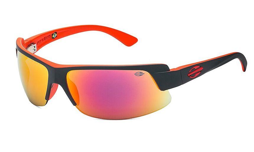 Óculos Solar Mormaii Gamboa Air 3 44103411 Cinza e Vermelho Lente Vermelha