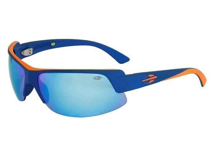 Óculos Solar Mormaii Gamboa Air 3 441K3812 Azul e Laranja Lente Azul Espelhado