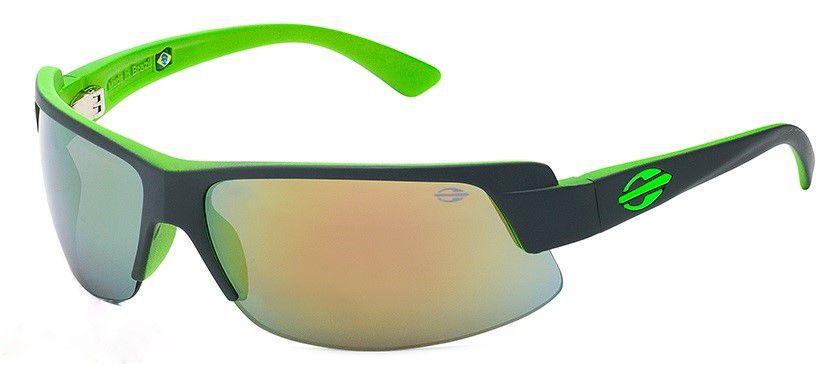 Oculos Solar Mormaii Gamboa Air 3 Cod. 44123896 - Garantia Cinza/ verde  espelhado Dourado