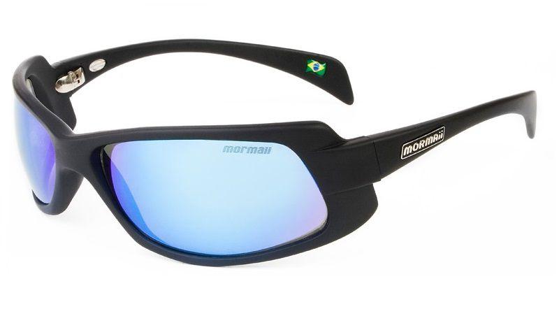 Óculos Solar Mormaii Gamboa Ro 2 27911712 Preto Fosco Lente Azul Espelhada