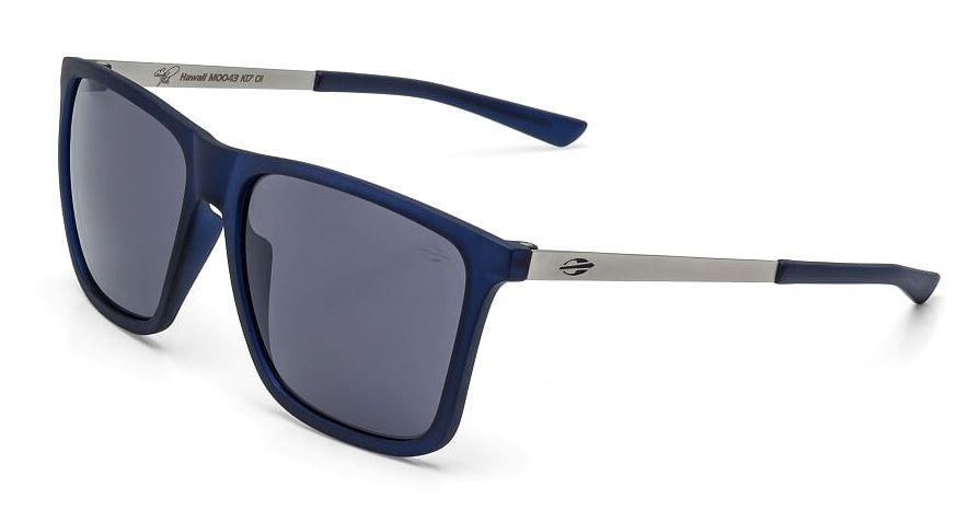 Óculos Solar Mormaii Hawaii Pato m0043k1701 Azul Translúcido Lente Cinza