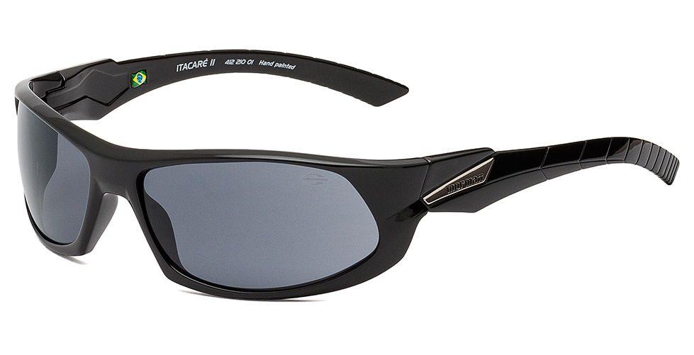 Oculos Sol Mormaii Itacare 2 41221001 Preto Brilho Lente Cinza