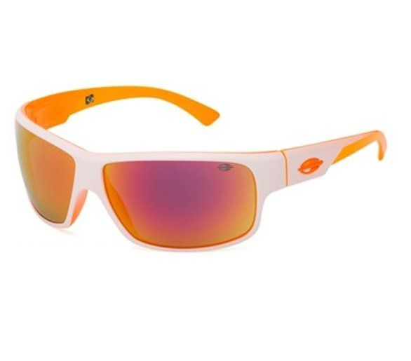Óculos Solar Mormaii Joaca 2 44586191 Branco Lente Laranja Espelhada