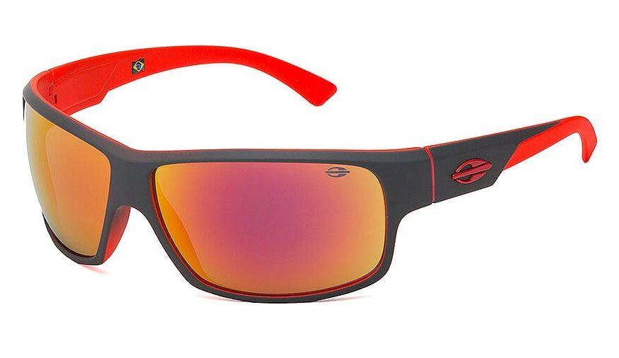 e4e0abd89d803 Oculos Solar Mormaii Joaca 2 44586311 Cinza Lente vermelho espelhado ...