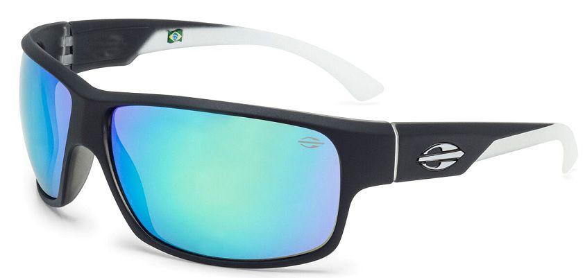 Oculos Solar Mormaii Joaca 2 Cod. 445A1985  Preto Fosco com Ponta das Hastes Transparente / Lente Verde Flash