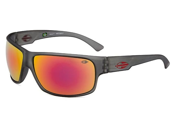 Oculos Solar Mormaii Joaca 2 Cod. 445D2211 Cinza - Vermelho Flash