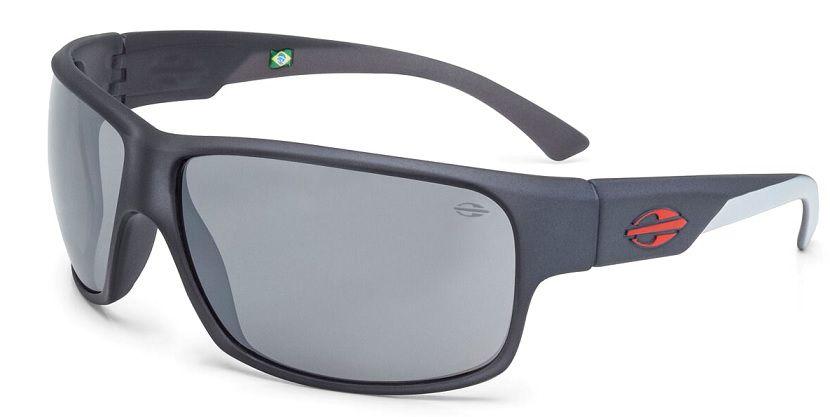 Oculos Solar Mormaii Joaca 2 445D6709 Cinza/Branco - Lente Cinza Flash