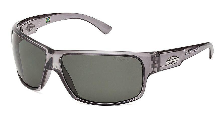 Óculos Solar Mormaii Joaca 2 Xperio Polarizado 44514489 Cinza Translúcido Lente Verde Polarizado