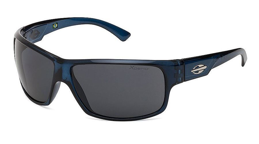Óculos Solar Mormaii Joaca 2 Xperio Polarizado 44552103 Azul Translucido - Lente Cinza Polarizado