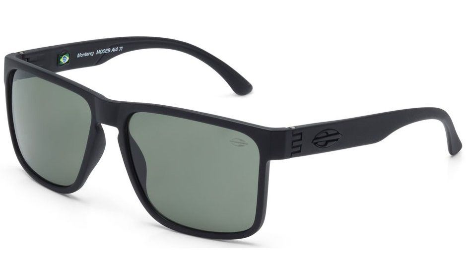 Oculos Solar Mormaii Monterey M0029a1471 Preto Fosco Lente Verde G15