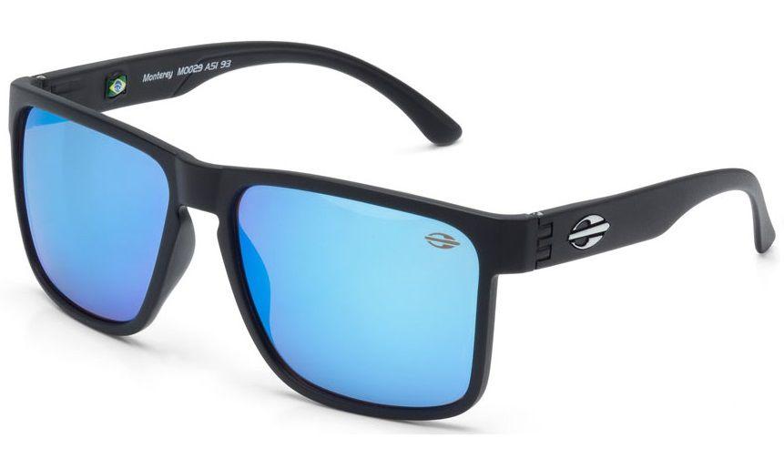 Oculos Solar Mormaii Monterey M0029a1497 - Preto Fosco - Lente Azul  Espelhada fbc6e2bff2