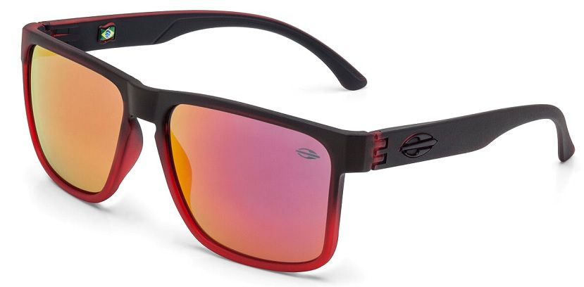 Oculos Sol Mormaii Monterey M0029AAK11 Vermelho Preto Lente Vermelha Flash