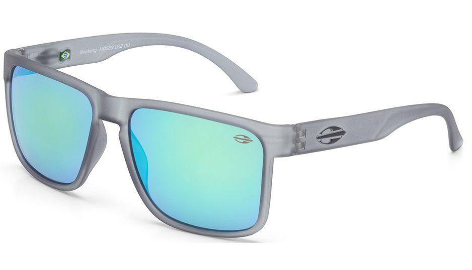Oculos Solar Mormaii Monterey M0029d2285 - CINZA TRANSLUCIDO - LENTE VERDE FLASH