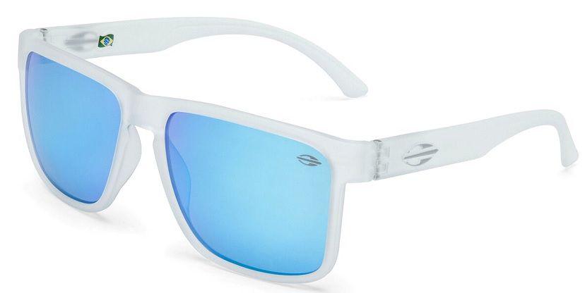 Oculos Solar Mormaii Monterey M0029D5412 -  CINZA CLARO TRANSLUCIDO - LENTE AZUL FLASH