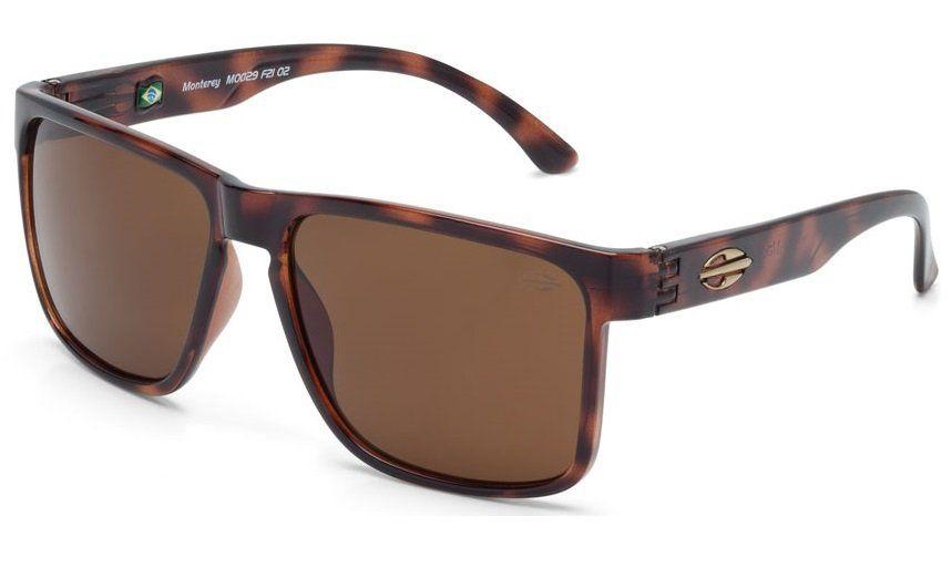 Oculos Solar Mormaii Monterey M0029f2102  - MARROM TARTARUGA  - LENTE MARROM