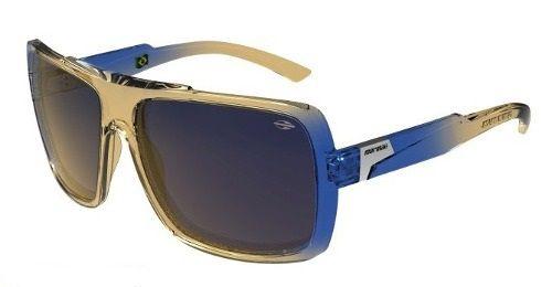 Oculos Solar Mormaii Prainha 2 - Cod. 41906828 - Bege Translucido/Azul  Translucido - Lente Dourado Espelhado